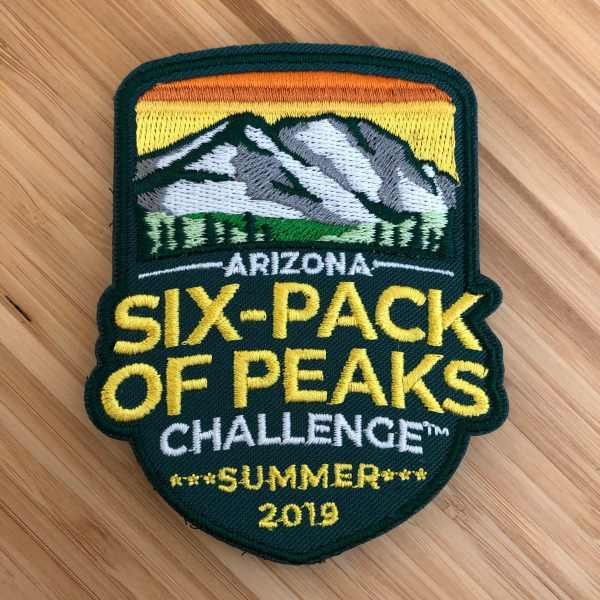 2019 Arizona Summer Six-Pack of Peaks Challenge Patch