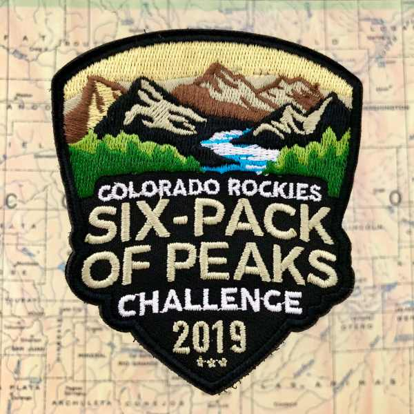 2019 Colorado Rockies Six-Pack of Peaks Challenge Patch