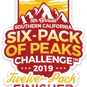 2019 SoCal 12-Pack Finisher Sticker