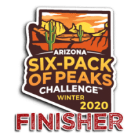 2020 Arizona Winter Six-Pack of Peaks Challenge Finisher