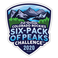 2020 Colorado Rockies Six-Pack of Peaks Challenge logo