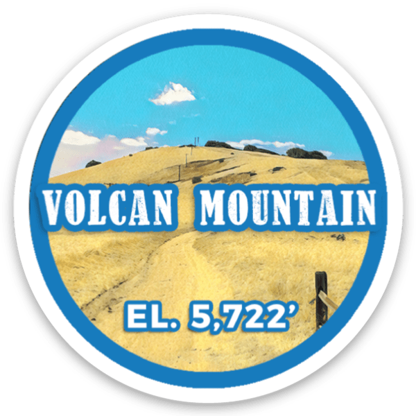 Volcan Mountain sticker