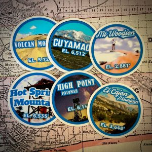 San Diego Six-Pack of Peaks Sticker Pack