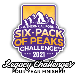 2021 SoCal Six-Pack of Peaks Legacy Challenger Badge