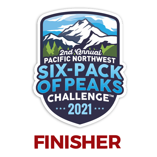 2021 PNW Six-Pack of Peaks Finisher