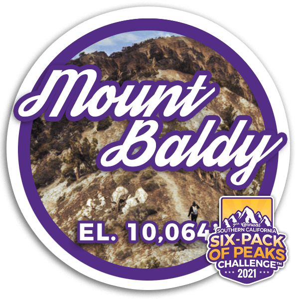 2021 Mount Baldy badge
