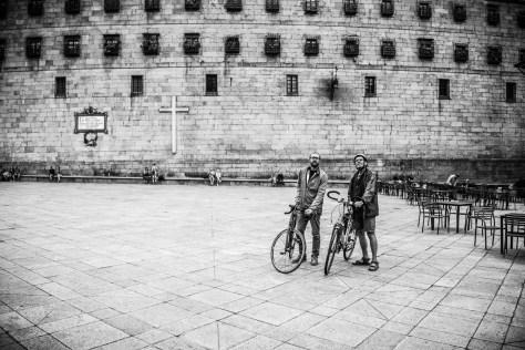Santiago de Compostela per fiets
