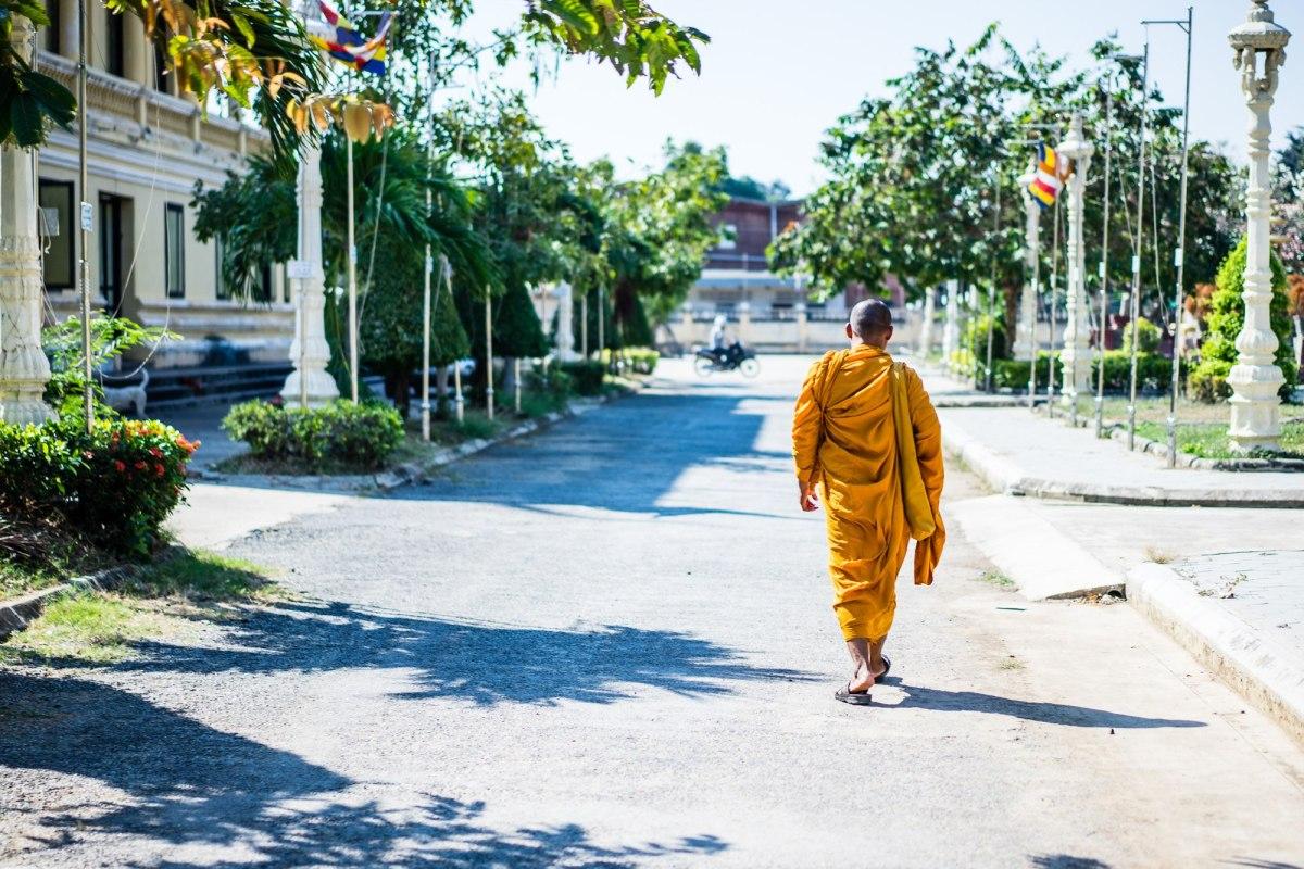 Portretten van Cambodjanen: monniken.