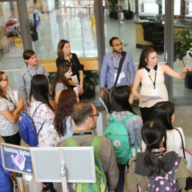 New students get to know the Harvard Chan School through campus tours offered the first day of Orientation.