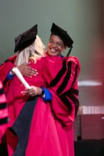 Dean Michelle Williams and student