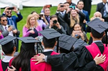Students taking photo