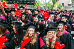 Students at commencement in Cambridge