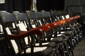 Chairs at convocation