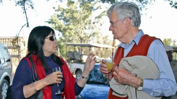Phyllis Kanki and Howard Moffat