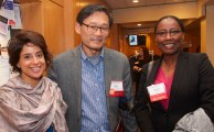 Teresa Chahine, SD '10; Peter Choo, MPH '91, DPH '96; Shahira Ahmed, SD '14
