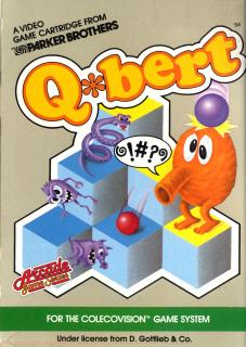 Q*bert - Colecovision Cover & Box Art