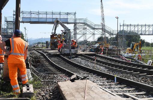 Die Rheintalbahn ist bei Rastatt eine Großbaustelle Foto: dpa