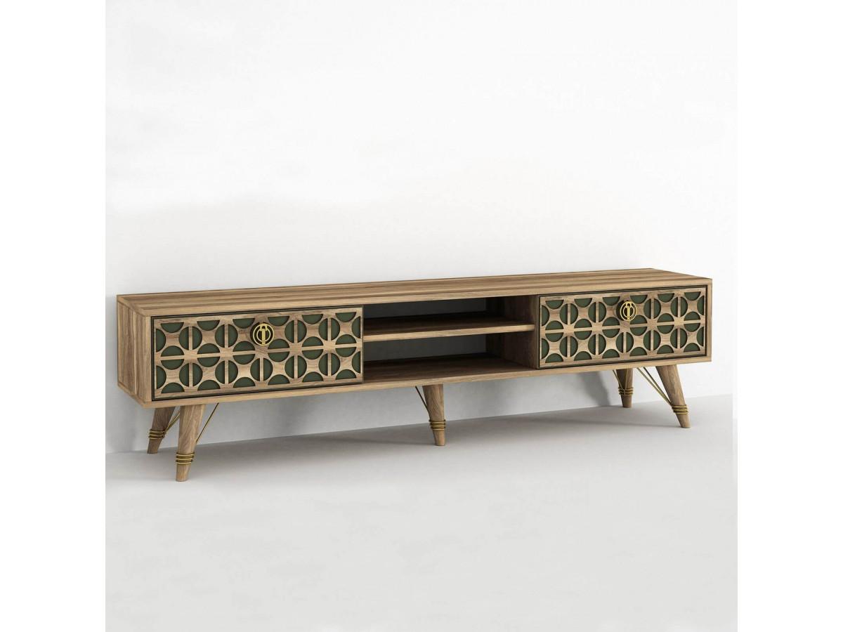 meuble tv 180 cm zeko noyer