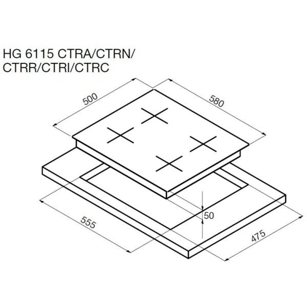 Варочная поверхность Korting HG 6115 CTRC «1889» купить в ...