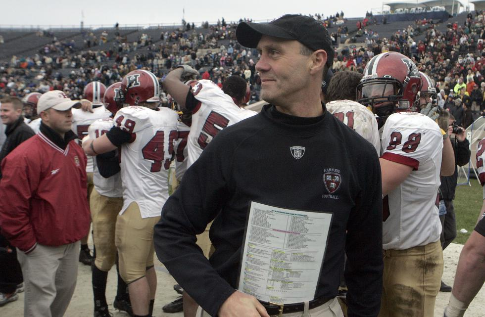 Harvard football coach Tim Murphy