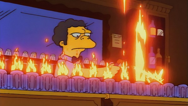 Montreal bar serving Duff beer and Flaming Moes