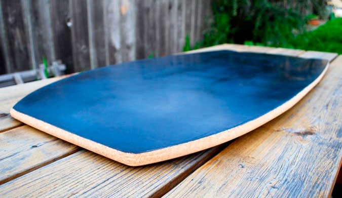 """""""After a few prototypes, I noticed that the placement of the fiberglass and the thickness of the board made unique flex patterns that I could feel on the wave."""""""