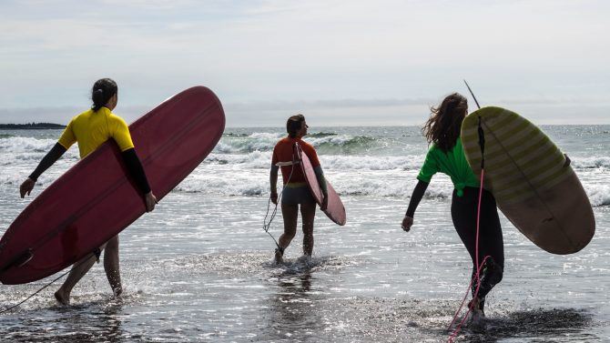 Surfing Association of Nova Scotia longboard contest, 2015. Photo: Katrina Pyne