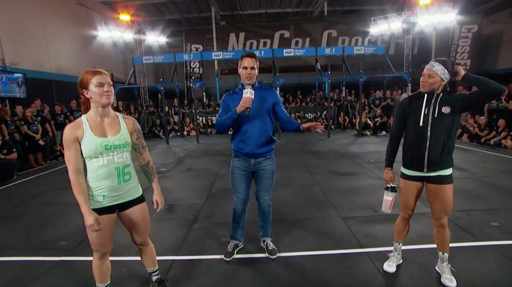 Emily Abbott defeats Chyna Cho in crossfit open 16.1