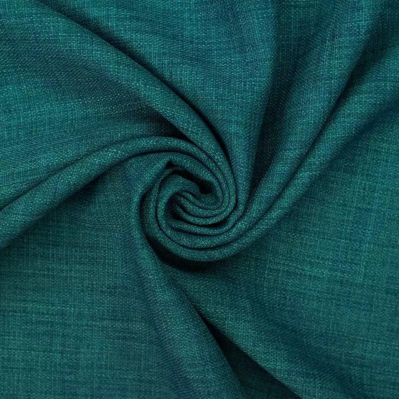 tissu aspect lin bleu canard