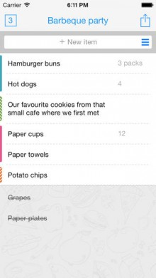 Buy Me a Pie's grocery list app gets design overhaul, with background syncing, favorite items and more