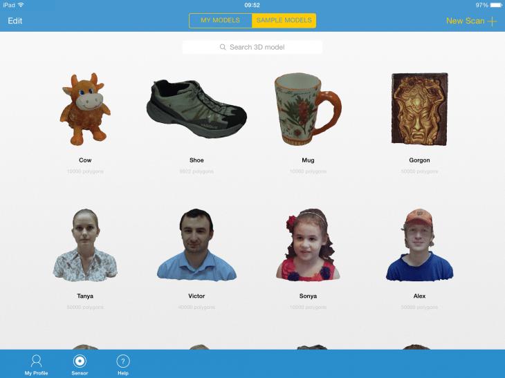 Ejemplos de capturas 3D