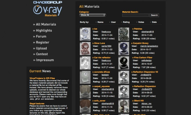 vray materials 730x438 40 free resources every designer should know