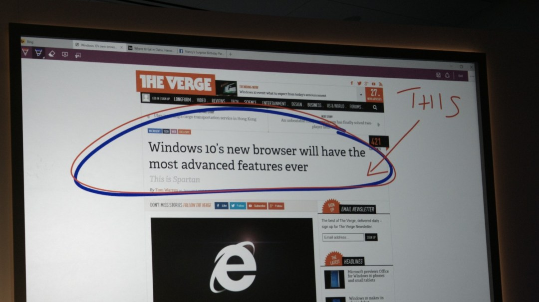 Windows 10 0121 354 This is Spartan, Microsofts new browser to challenge Google Chrome