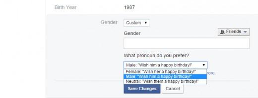 Gender,Facebook