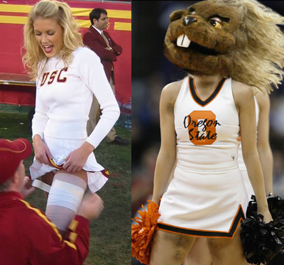 USC Cheerleader and OSU Cheerleader Beaver.jpg
