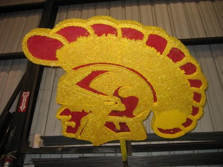 The Trojan that will adorn the 2006 Rose Bowl float