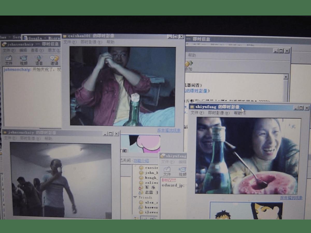 Colleghi Alibaba in videochiamata durante SARS