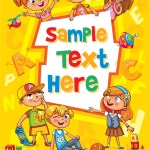 Children Book Cover Royalty Free Vector Image Vectorstock