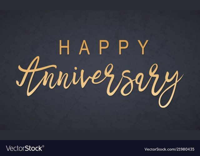 Happy Anniversary Lettering Royalty
