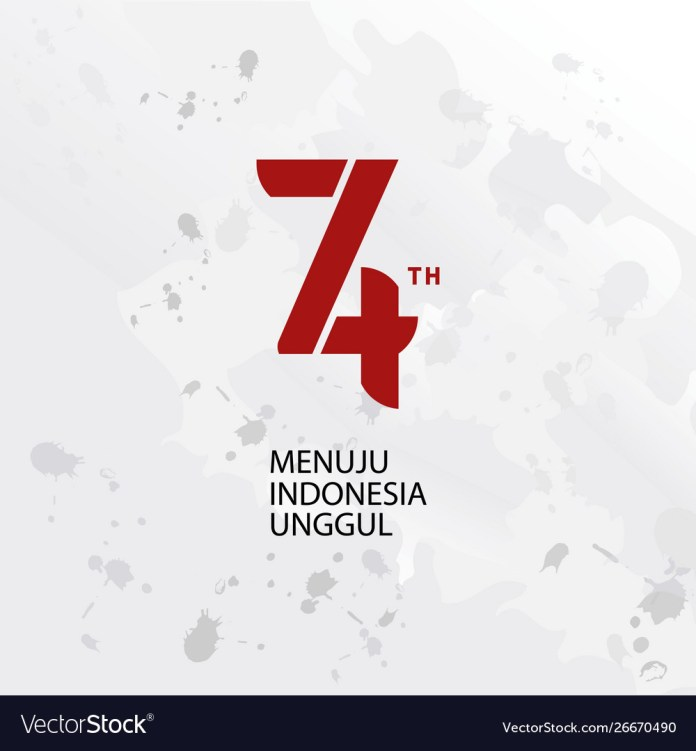 Logo 74th Indonesia Independence Day Background Vector Image