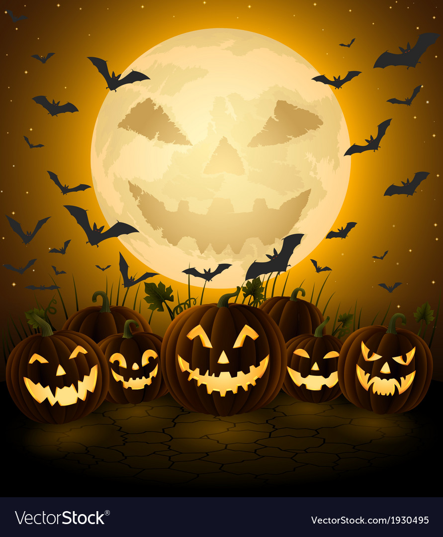 Spooky Halloween Night Royalty Free Vector Image
