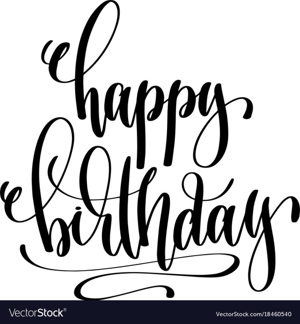 happy birthday hand lettering lettering birthday invitations howtoviews co 22082 | happy birthday hand lettering event invitation vector 18460540