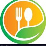 Organic Food Restaurant Logo Royalty Free Vector Image