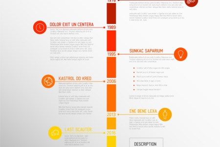 Infographic timeline report template Royalty Free Vector Infographic timeline report template vector image