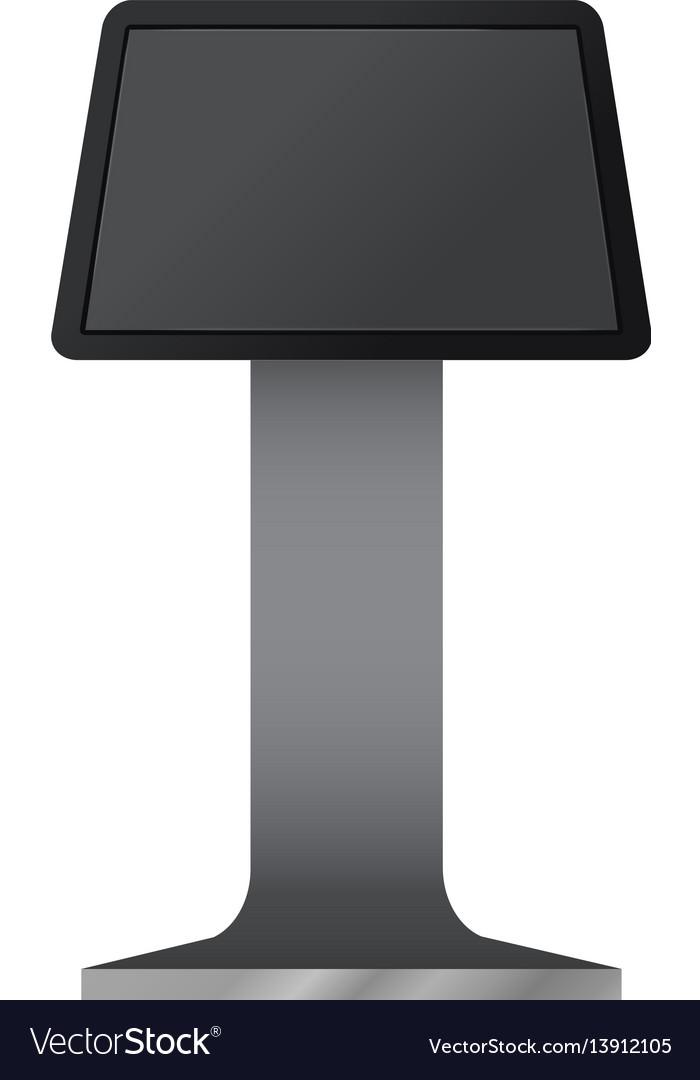 Digital Touchscreen Terminal Mockup Royalty Free Vector