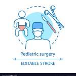 Pediatric Surgery Concept Icon Royalty Free Vector Image