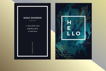 Double sided business card template in green color Double sided business card template in green color vector image