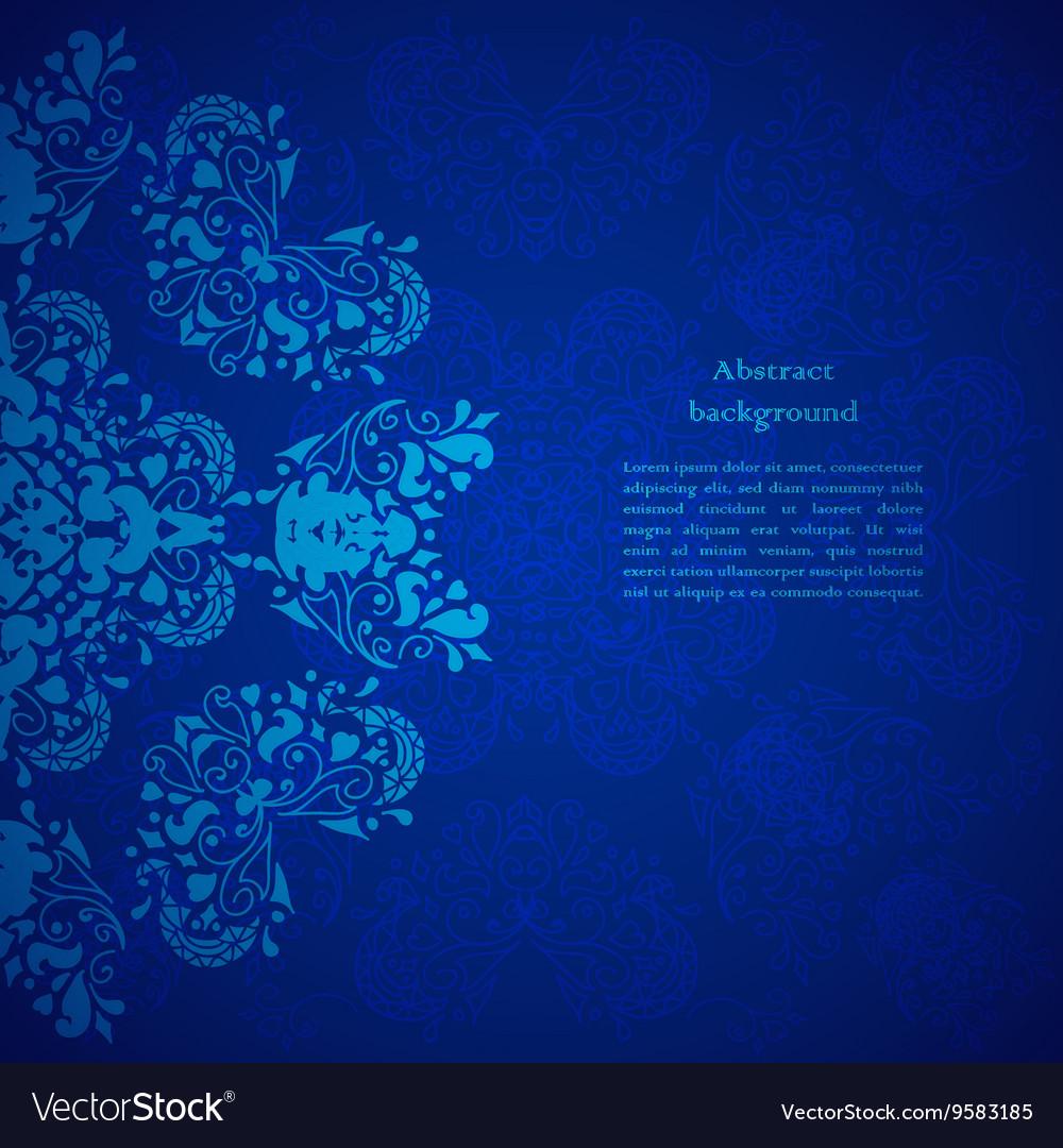 Blue Floral Background For Presentation Royalty Free Vector
