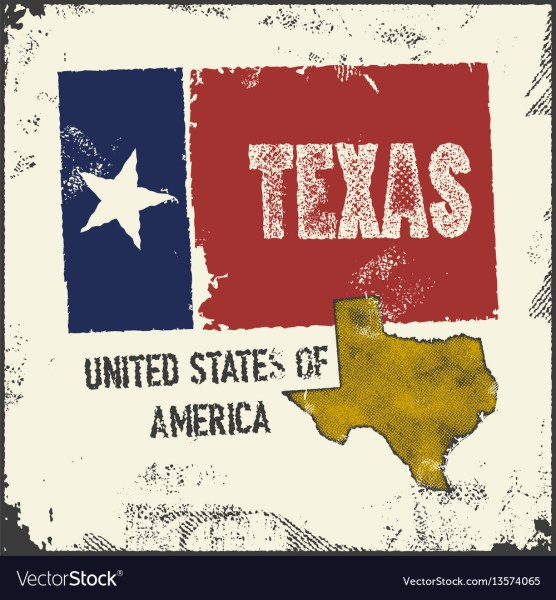 Label with map of texas Royalty Free Vector Image Label with map of texas vector image