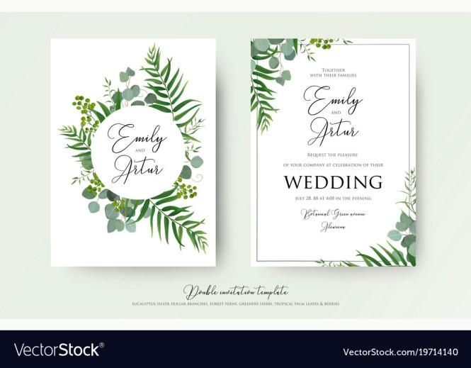 Greenery Fl Wedding Invitation Card Design